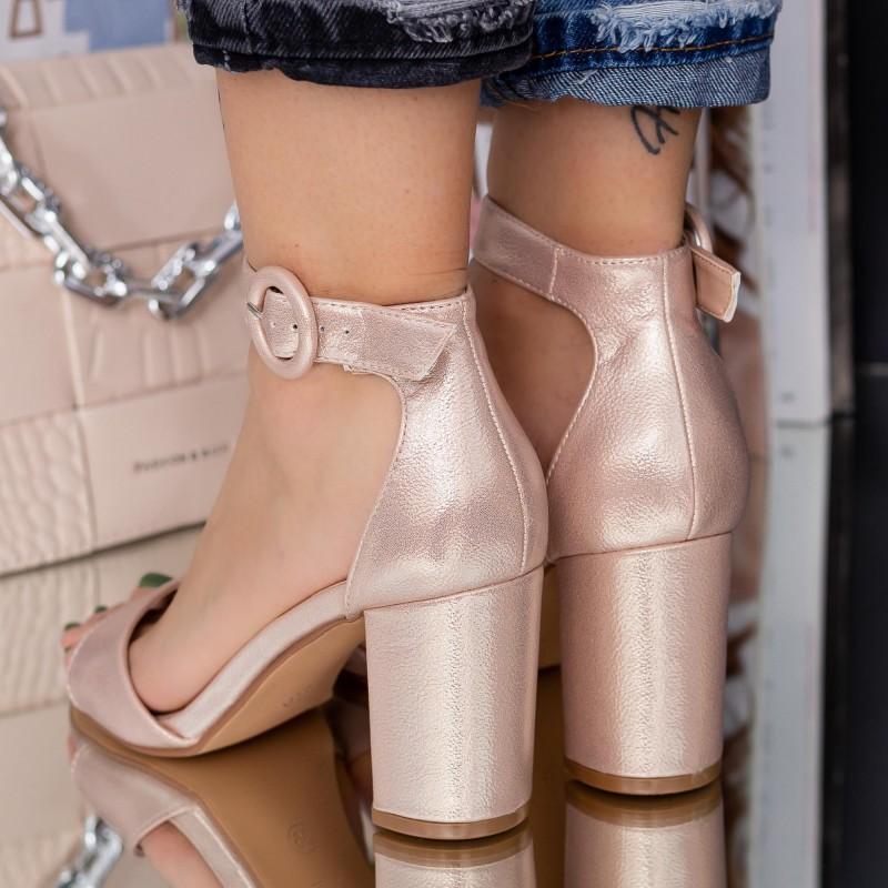 Pantofi Sport Dama cu Platforma WLGH6 White Mei