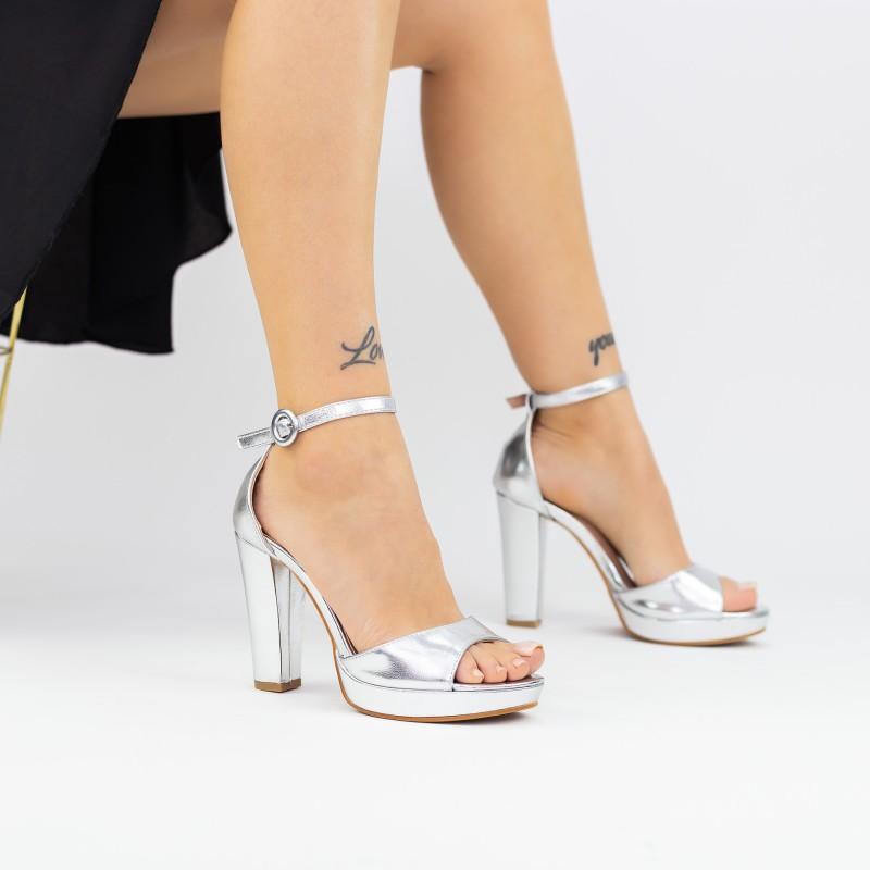 Pantofi Sport Dama cu Platforma 806 PSDP White Mei