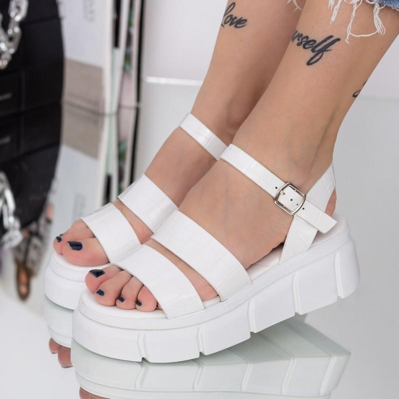 Pantofi Sport Dama YKQ195 White-Yellow Reina