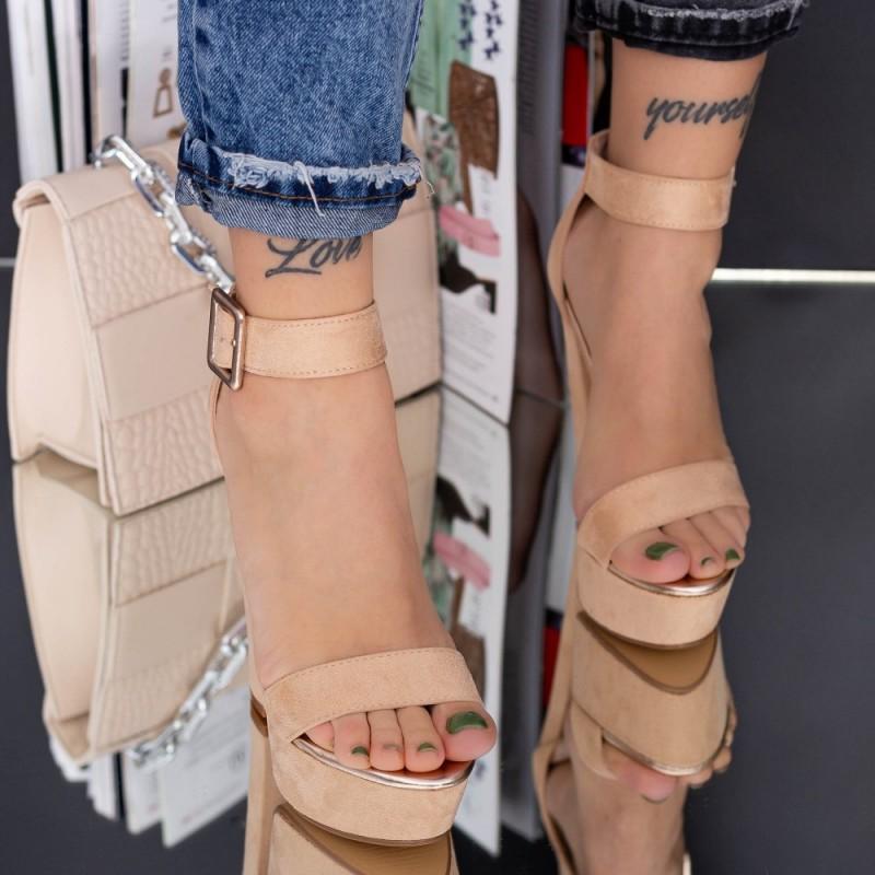 Pantofi Casual Dama HJ5 Beige Reina