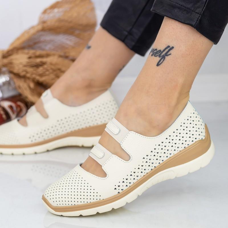 Pantofi Sport Dama cu Platforma 805 PSDP Yellow Reina