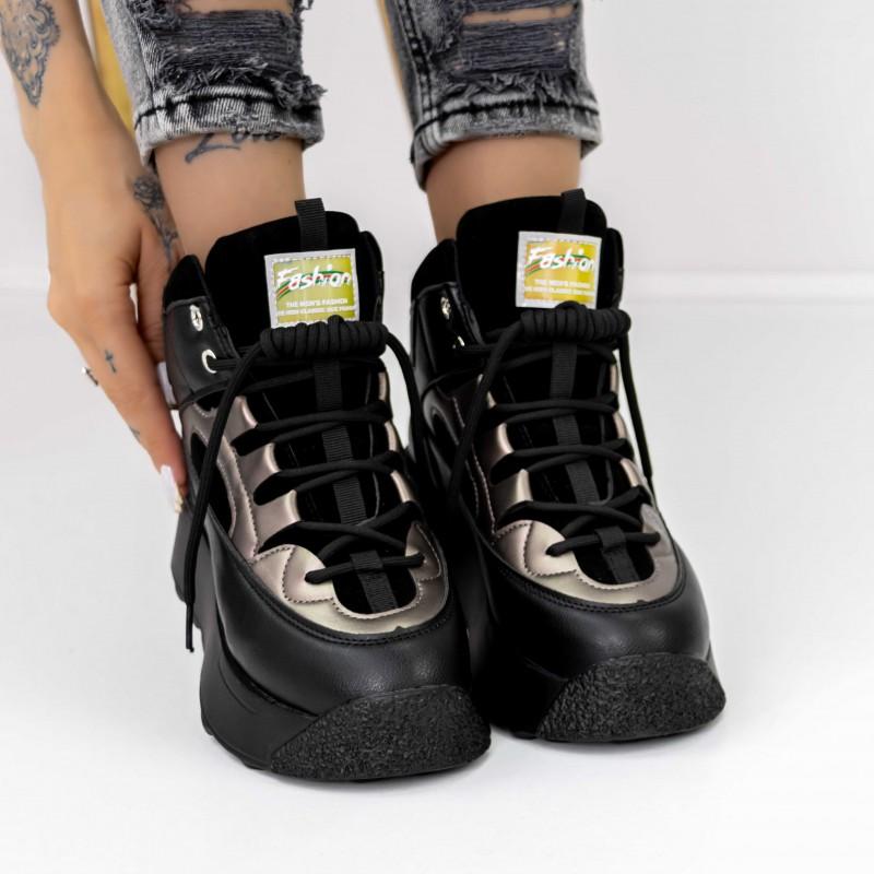 Sandale Dama cu Platforma WT005 Yellow Reina